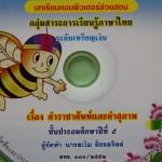 CAI กลุ่มภาษาไทย ระดับเหรียญเงิน
